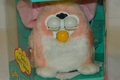 Electronic Furby Baby Pink and White, Yellow Tuff on Head and Tail Model 70-9401 Ages 6 &Up
