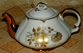 Ellgreave Stoneware Teapot Pattern 2872 Gold Pattern Roses SOLD