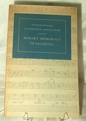 Book Intl Foundation Mozarteum Mozart Memorials in Salzburg