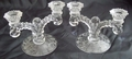 Cambridge Rose Point Pair Martha 2-lite Candlesticks