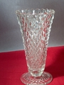"Indiana Glass Diamond Point 8"" Footed Vase"