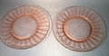 Jeannette Glass Floral Poinsettia Pink Plate Set of 2