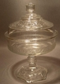 American Pressed Glass Covered EAPG Compote