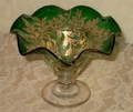 Green and gilt Sherbert Glassware