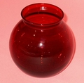 "Vase 4"" ivy, ball-shaped Royal Ruby Anchor Hocking"