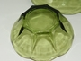 Vintage Avocado Green Chip & Dip Set Anchor Hocking Swedish Modern