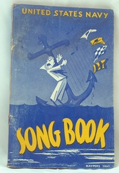 Sheet Music Book Navy Song Book 1945