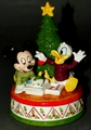 Disney Schmid Music Box Jingle Bells Mickey Mouse