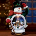 Holiday Welcome Snowman By Thomas Kinkade Illuminates