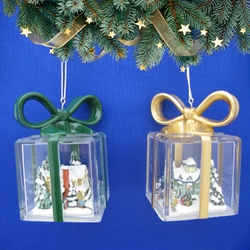 Thomas Kinkade Ornaments Together for the Holidays & The Gift of Love