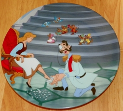 Disney Collector Plate Cinderella Series If the Shoe Fits Out of Stock