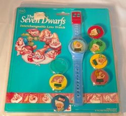 Disney The Seven Dwarfs Interchangeable Lens Watch all 7 Blue Band in Org Package