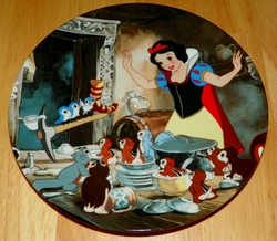 Disney Collector Plate Knowles Snow White Time To Tidy Up SOLD