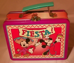 Disney Fiesta Metal Lunch Box with Mickey & Minnie