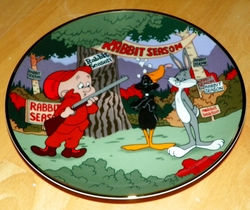 Collector Plate Looney Tunes Plate Rabbit Seasoning