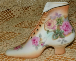Porcelain Shoe High Button Shoe Figurine