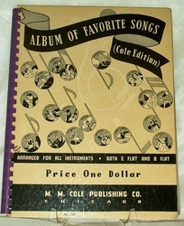 Album of Favorite Songs Cole Edition 1936