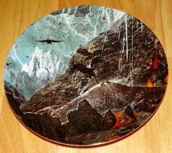 Collector Plate Lord of the Rings At the Foot of Mount Doom