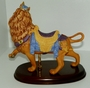 Lenox Carousel Animal Figurine The Lion Porcelain on a Wood Base