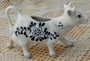 Vintage Hand Painted Cow Cream Ceramic