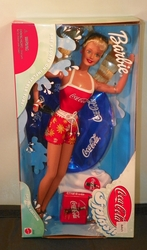 Barbie Doll Coca-Cola Splash She Floats on the Inflatable Tube NRFB SOLD