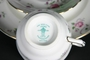 Floral Scallop Crown Stafforshire Trio - Plate Cup & Saucer