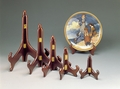 Wood Hinged Walnut Plate Stand 9 - 10 1/2 in Plates Out of Stock