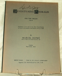 Seventy-Nine Chorales For The Organ 1932