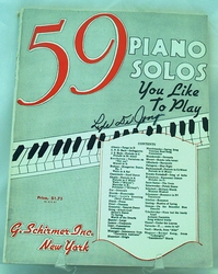 59 Piano Solos you like to Play SOLD