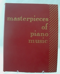 Sheet Music Book Masterpieces of Piano Music 1918 SOLD