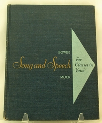 Song and Speech For Classes in Voice 1952