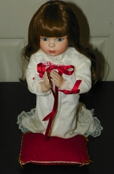 Fine Bisque Porcelain Doll Donald Zolan Inspired - A Christmas Prayer
