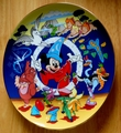 "Disney Collector Plate Fantasia Large 10"" Schmid 50 Anniversary LE 1990"