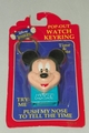 Disney Mickey Mouse Keyring Watch Push His Nose to View the Time