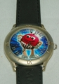M&M's Millennium Wrist Watch Limited Edition Black Leather Band
