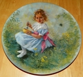 Collector Plate Little Miss Muffet Mother Goose Series 1981