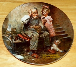 Collector Plate The Cobbler Rockwell Heritage Collection 1978