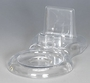 Clear Plastic Cup & Saucer Stand