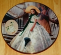 Gone With The Wind 1993 Collector Plate Green Sprigged Dress Costuming of a Legend Box & COA
