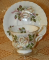 Royal Albert China White Rose Cup and Saucer Pattern # ROA156