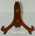 Wood Hinged Teak Plate Stand 7 - 8 1/2  in Plates Out of Stock