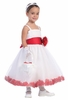 White Tulle Flower Petal Dress w/Sash