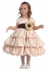 Little Girl's Satin 3-Tier Bubble Dress