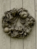 Stone Wreath with Winged Rats