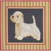 White Terrier Tapestry Cushion Cover