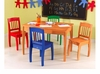 Euro Honey Table & 4 Chairs