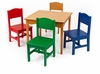 Kid's Nantucket Table & 4 Primary Chairs