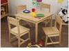 Kid's Farmhouse Table & 4 Chairs