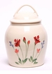 Red Poppy Ceramic Cookie Jar