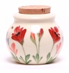 Red Poppy Ceramic Garlic Keeper